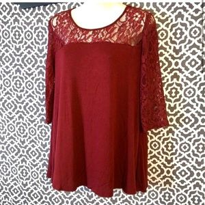 🌺EUC Beautiful New Directions Lace Top - Small🌺